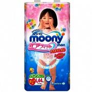 Подгузники-трусики Moony L-44шт. (девочка 9-14кг)