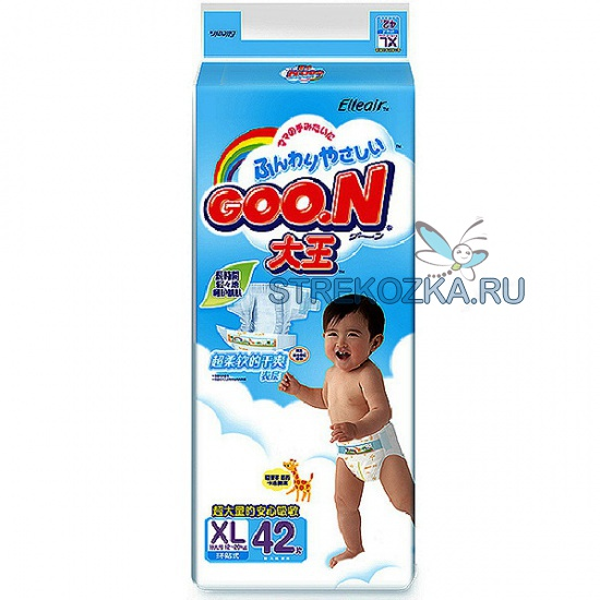 0e9ceccd0a7d Купить Японские подгузники Goon (Гун) от 12 до 20 кг размер Big (42 ...