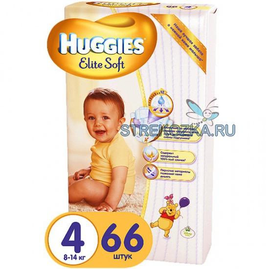 Купить подгузники huggies elite soft 4