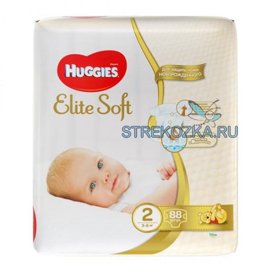 Памперсы huggies elite soft цена