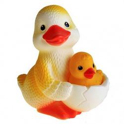 Резиновая игрушка Утка-мама №1 (с утенком)