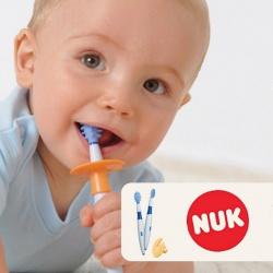 NUK Комплект тренажеров для ухода за полостью рта с 6 мес.