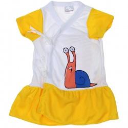 Платье, трусики 6-12 мес Желтая Улитка, 100% хлопок