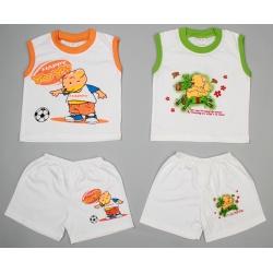 Комплект для мальчика Bear: майка, шорты 1-1,5 г (рост 86-92 см)