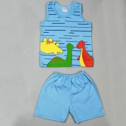 Костюм для мальчика Зебра (рост 80 см): майка, шорты