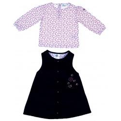 Комплект для девочки: кофта, платье, 12-18 м (рост 80-86 см)