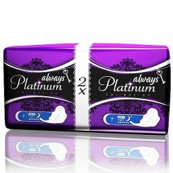 ALWAYS Ultra Женские гигиенические прокладки Platinum Collection Night Duo 14шт