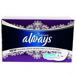 ALWAYS Женские гигиенические прокладки на каждый день Platinum Collection Deo Normal 50шт