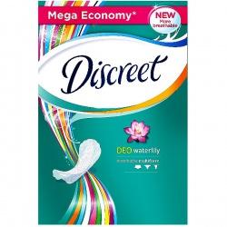 DISCREET Женские гигиенические прокладки на каждый день Deo Water Lily 100шт