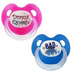 Пустышка Dental силикон Дневная 6-16 мес.BasicCare Drama Queen / Bad Boy