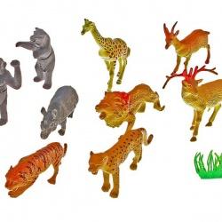 """Набор животных """"Сафари"""" с аксессуарами, (набор 12 шт)"""