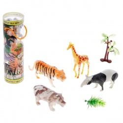 Набор животных Дикие животные, с аксессуарами, (набор 4 шт)