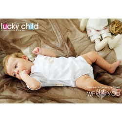 LUCKY CHILD Боди детский (белый) (68-74)