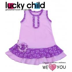 LUCKY CHILD Платье детское (розовое) (74-80)
