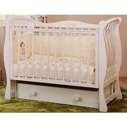 Кровать детская Ландыш, маятник поперечный белый