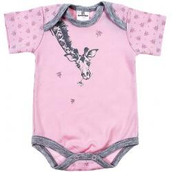 Боди Жираф, розовый