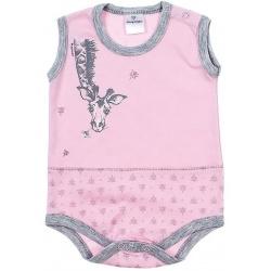 Боди-майка Жираф, розовый