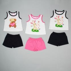 Костюм для девочки Претти, майка и шорты (68-74)