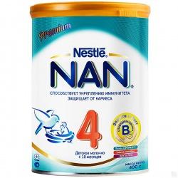 Молочная смесь НАН 4 Premium Защита и рост с 18 месяцев, 400 г