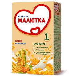 Малютка Каша безмолочная кукурузная с 5 мес., 200 гр