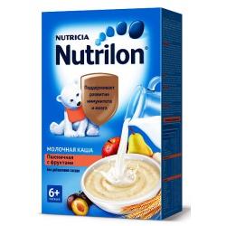 Nutrilon каша молочная пшеничная с фруктами, с 6 мес., 225г