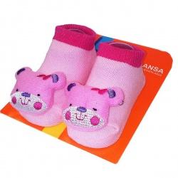 Носочки с игрушкой Мишутка. Размер: 18-20 (от 9 до 12 месяцев)