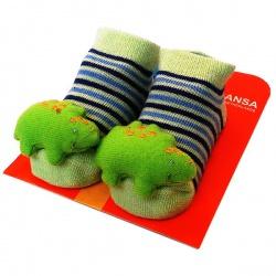 Носочки с игрушкой Ящерка. Размер: 18-20 (от 9 до 12 месяцев)