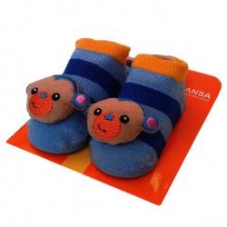 Носочки с игрушкой Обезьянка. Размер: 18-20 (от 9 до 12 месяцев)