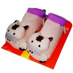 Носочки с погремушкой Коровка. Размер: 18-20 (от 9 до 12 месяцев)