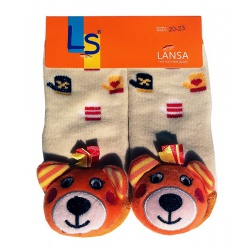 Носочки махровые с погремушкой Тигрушка