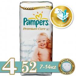 PAMPERS Подгузники Premium Care Maxi (7-14 кг) Экономичная Упаковка 52