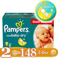 PAMPERS Подгузники New Baby Mini (3-6 кг) Малая Мега Упаковка 144