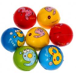 """Мяч мягкий пластик """"Веселые животные"""" 6,3 см"""