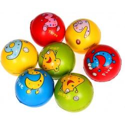 """Мяч мягкий пластик """"Живые цифры"""" 7,6 см"""