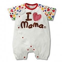 Боди I love mama с сердечком (62-68 см)