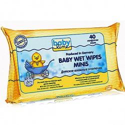 BabyLine Влажные платочки детские 40 шт