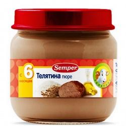 Пюре Сэмпер телятина с 6 месяцев,90 гр