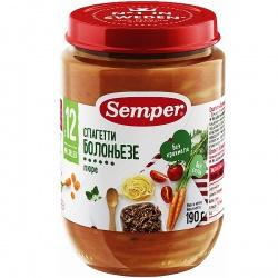 Пюре Сэмпер спагетти болоньезе с 12 месяцев, 190 г.