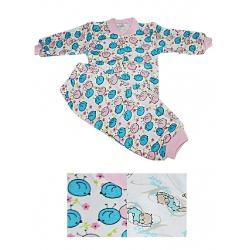Пижама (футер) SONI KIDS кофточка воротник стойка+штанишки на манжете р.68