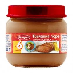 Пюре Сэмпер говядина с 6 месяцев,90 гр