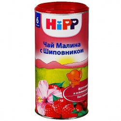 Чай Хипп из малины и шиповника с 6 месяцев, 200 г.