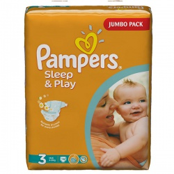 PAMPERS Подгузники Sleep & Play Midi (5-9 кг) Джамбо Упаковка 78