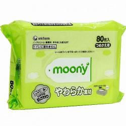 Moony Влажные мягкие салфетки запасной блок 80 шт