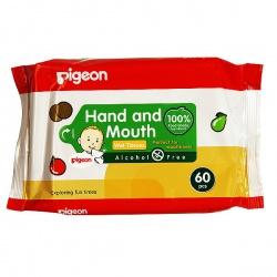 Pigeon Детские влажные салфетки для сосок, игрушек, фруктов 60 шт