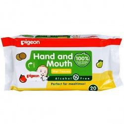 Pigeon Детские влажные салфетки для сосок, игрушек, фруктов 20 шт