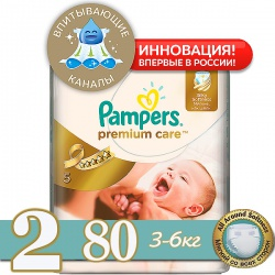 PAMPERS ���������� Premium Care Mini (3-6 ��) ����������� �������� 80