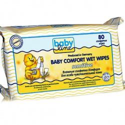 BabyLine Влажные салфетки Комфорт Сенсетив для особо чувствительной кожи 80 шт