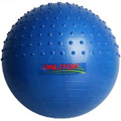 Мяч гимнастический массажный плотный d=65 см 1000 г