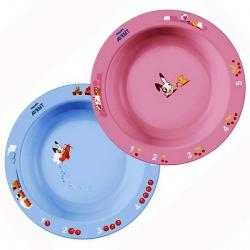 Avent Глубокая тарелка большая, голубая или розовая (от 12 месяцев)