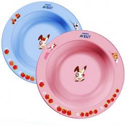 Avent Глубокая тарелка малая голубая или розовая (от 6 месяцев)